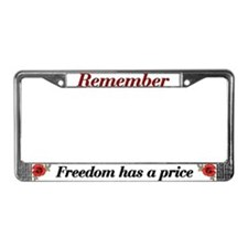 Remember Poppy License Plate Frame