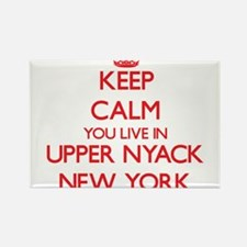 Keep calm you live in Upper Nyack New York Magnets