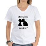 Romance Junkie Women's V-Neck T-Shirt