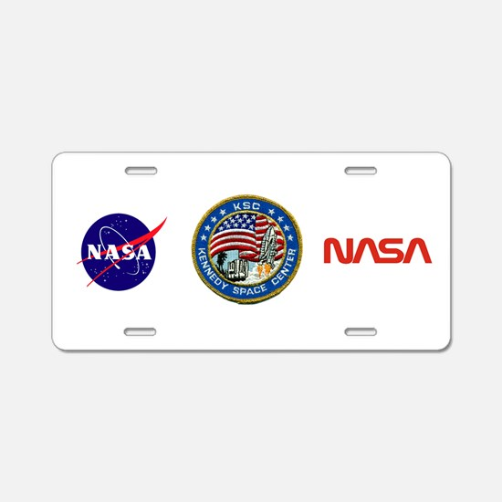 Kennedy Space Center Aluminum License Plate