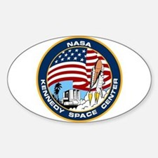 Kennedy Space Center Sticker (oval)