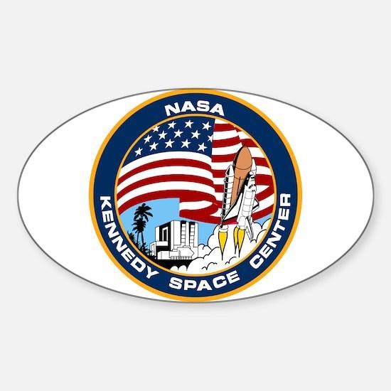 Kennedy Space Center Sticker (oval)