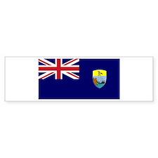 Saint Helena Flag Bumper Bumper Sticker