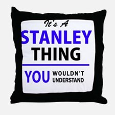 Cute Stanley Throw Pillow