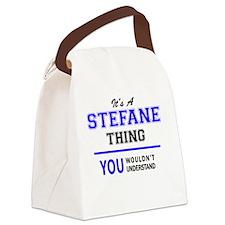 Cute Stefan Canvas Lunch Bag