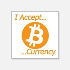 Type 2 I Accept Bitcoin Currency Sticker