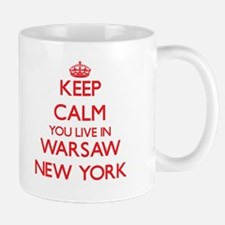 Keep calm you live in Warsaw New York Mugs