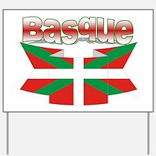 Basque flag ribbon Yard Sign