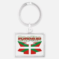 Basque flag ribbon Landscape Keychain