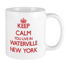 Keep calm you live in Waterville New York Mugs