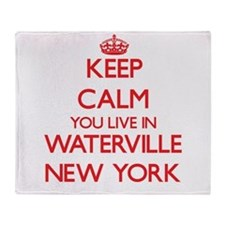 Keep calm you live in Waterville New Throw Blanket