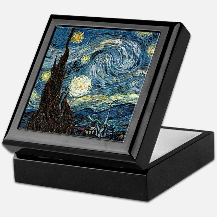 Vincent VanGogh Starry Night Keepsake Box