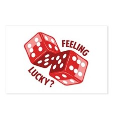 Dice_Feeling_Lucky Postcards (Package of 8)