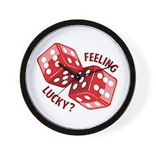 Dice_Feeling_Lucky Wall Clock