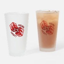 Dice_Feeling_Lucky Drinking Glass
