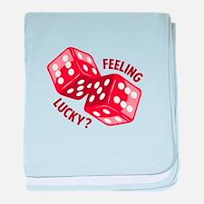Dice_Feeling_Lucky baby blanket