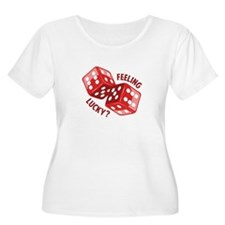 Dice_Feeling_Lucky Plus Size T-Shirt