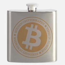 Type 1 Bitcoin Logo Flask