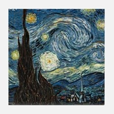 Vincent VanGogh Starry Night Tile Coaster