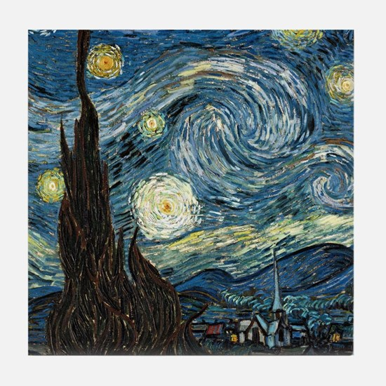 Vincent VanGogh Starry Night Tile Coaster