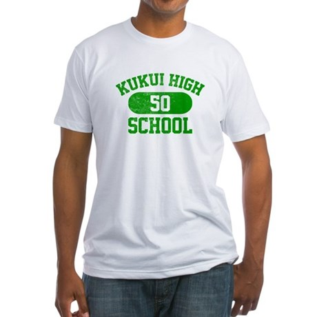 Kukui High School 50 Fitted T-Shirt