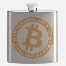 Type 2 Bitcoin Logo Flask