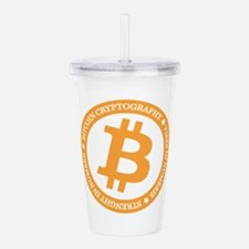 Type 2 Bitcoin Logo Acrylic Double-wall Tumbler