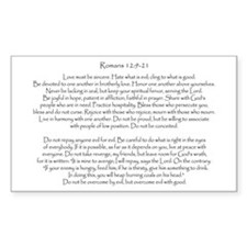 Romans 12: 9-21 Rectangle Decal