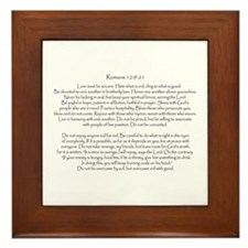 Romans 12: 9-21 Framed Tile