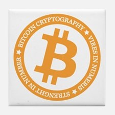 Type 2 Bitcoin Logo Tile Coaster