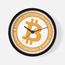 Type 2 Bitcoin Logo Wall Clock
