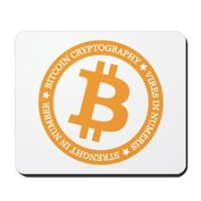 Type 2 Bitcoin Logo Mousepad