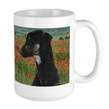 Sloughi in Red Poppy Field Mug