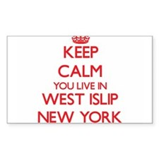 Keep calm you live in West Islip New York Decal