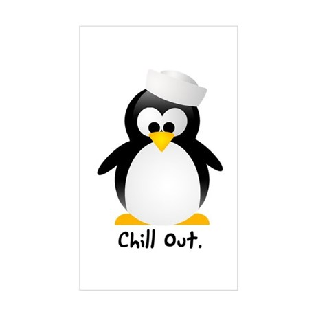 Chill Out Rectangle Sticker