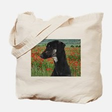 Sloughi in Red Poppy Field Tote Bag