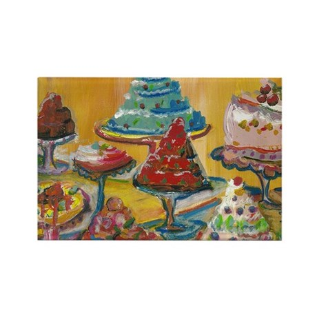 Birthday Cakes Rectangle Magnet