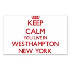 Keep calm you live in Westhampton New York Decal