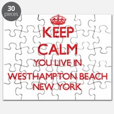 Keep calm you live in Westhampton Beach New Puzzle