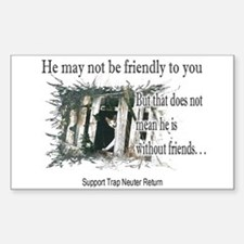 Feral Friend non affiliated Rectangle Bumper Stickers