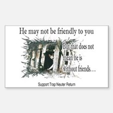 Feral Friend non affiliated Rectangle Decal