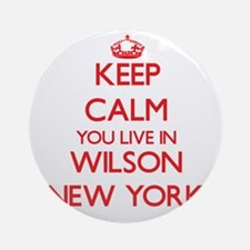 Keep calm you live in Wilson New Ornament (Round)