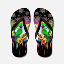 Rainbow Lorikeet Parrot Art Flip Flops