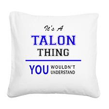 Unique Talon Square Canvas Pillow
