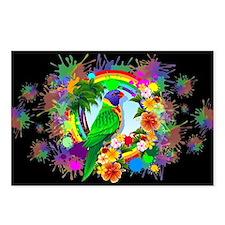 Rainbow Lorikeet Parrot Art Postcards (Package of