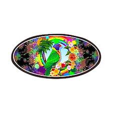 Rainbow Lorikeet Parrot Art Patches