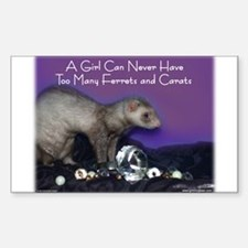 Ferrets & Carats Rectangle Decal