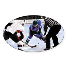 Ice Hockey Players and Referee Decal