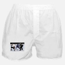 Ice Hockey Players and Referee Boxer Shorts