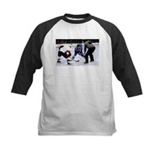 Ice Hockey Players and Referee Baseball Jersey